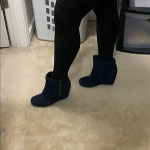 Ankle booties - Navy